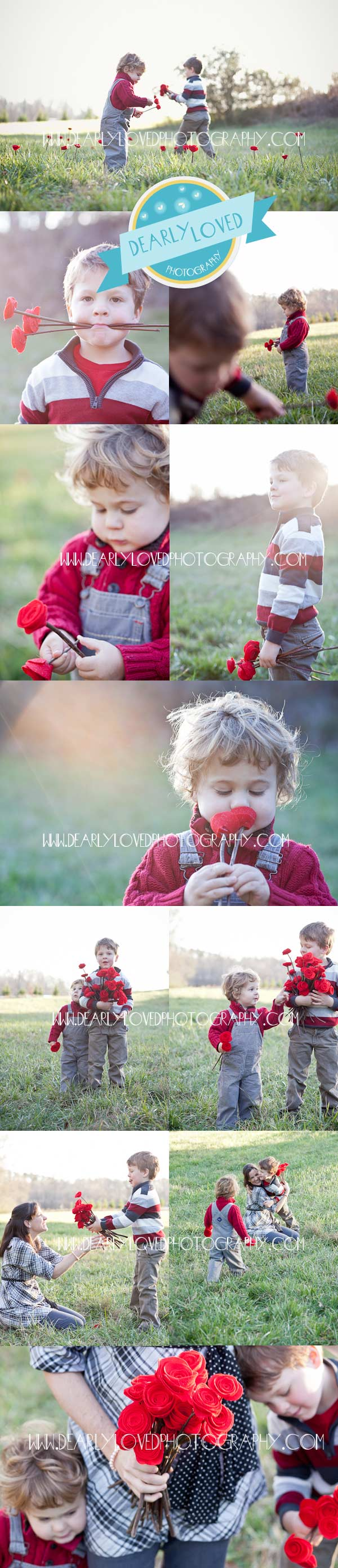 family photography flower inspiration shoot